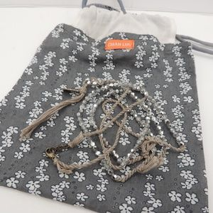 Chan Luu Beaded Tassel Necklace Sparkly Crystal